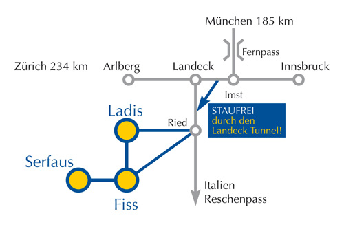Map Serfaus Fiss Ladis